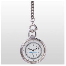Pocket Series Silver Open Pocket Watch w/ Chain Fob