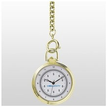 Pocket Series Gold Open Pocket Watch w/ Chain Fob
