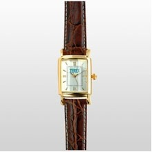 Beveled Crystal Gold Rectangle Style Watch