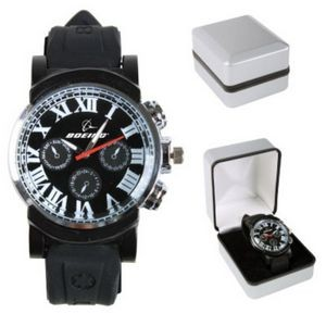 The Parisian Mens Watch - Silver/Black