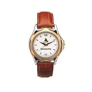 The St Tropez Watch - Mens - White/Gold/Brown